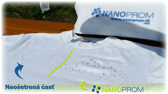 Nano impregnácia textilu - rozdiel