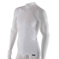 Pánske tenké biele tričko bez rukávov radu Comfort