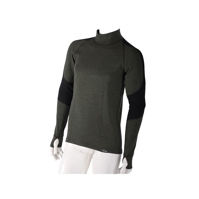 b936186c396 Pánske hrubé dlhorukávové termo tričko s Merino vlnou Nanobodix Wooler