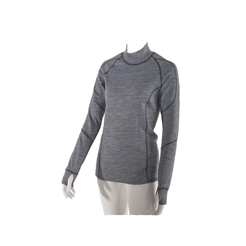 Women 39 s thermo shirt with long sleeves with merino wool for Merino wool shirt womens