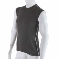 Men's antibacterial sleeveless black shirt An-Atomic