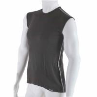 Pánske antibakteriálne čierne tričko bez rukávov An-Atomic