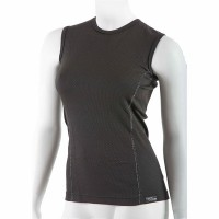 Women's antibacterial sleeveless black shirt An-Atomic