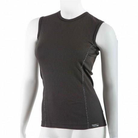 Dámske antibakteriálne čierne tričko bez rukávov An-Atomic