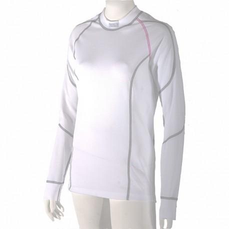 94ed78f3332dd Dámske antibakteriálne biele tričko s dlhým rukávom Nanobodix An-Atomic