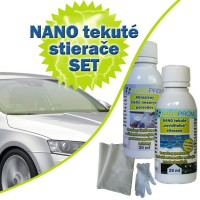 SET - Nanotech liquid windshield wipers 25ml + abrasive cleaner 30ml