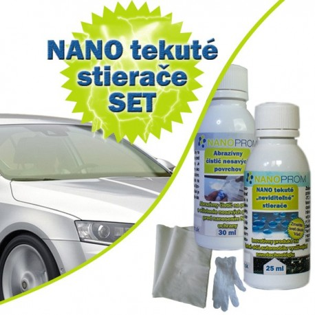 SET - Nanotech tekuté stierače 25ml + Abrazívny čistič 30ml