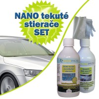 SET - Nanotech liquid windshield wipers 100ml + abrasive cleaner 100ml