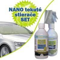 SET - Nanotech tekuté stierače 100ml + Abrazívny čistič 100ml