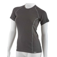 Antibacterial women's black T-shirt An-Atomic