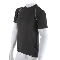 Antibacterial Men's black t-shirt with short sleeves An-Atomic