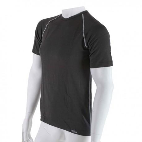 Pánske antibakteriálne čierne tričko s krátkym rukávom An-Atomic