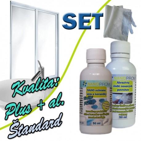 SET - NANO ochrana skla a keramiky 100ml + Abraz. čistič 100ml