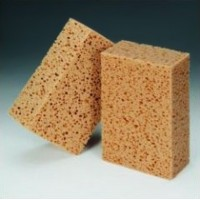 Small sponge for cleaning lacquered surfaces on car or boat
