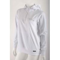 Women's white sweatshirt with hood NanoBodix ColdBraker