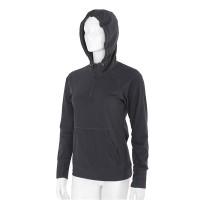 Women's black sweatshirt with hood NanoBodix ColdBraker