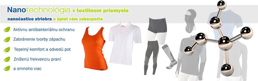 Antibakteriálne funkčné termo oblečenie NanoProm